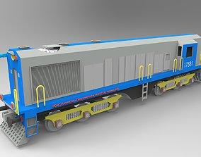 CAD model of a diesel locomotive