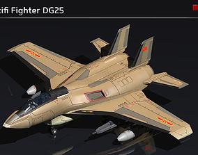 Scifi Fighter DG25 3D model game-ready