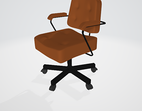 rigged chair 3d model