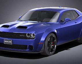 3D asset LowPoly Dodge Challenger SRT Hellcat 2019