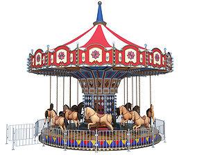 roller 3D model Carousel Ride