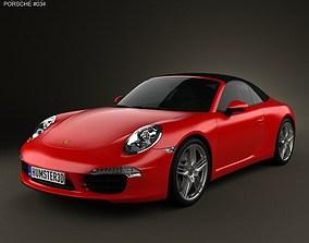 3D model Porsche 911 Carrera Cabriolet 2012