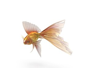 Fantasy Gold Fish 3D model