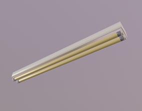 Fluorescent Fixture 3D asset
