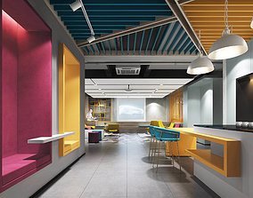 Office Interior Multiple perspectives 3D