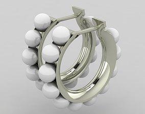 Pearls Earring 3D print model