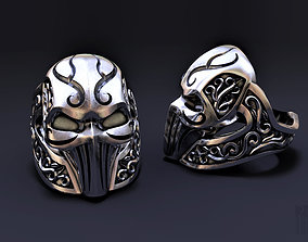 ring mask with patterns 3D printable model