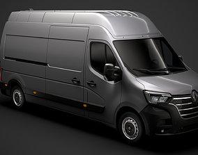 3D model Renault Master L3H3 Van 2020