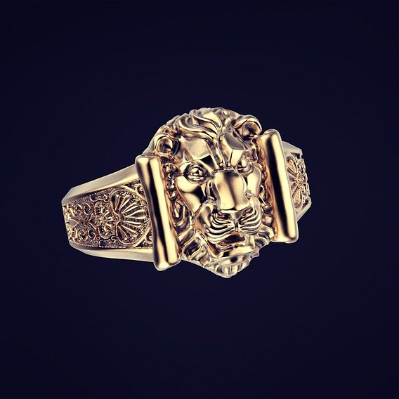 The ring is a lion in the Roman style