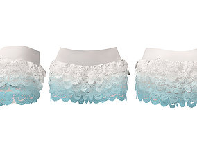Lace Layered Shorts V2 3D asset