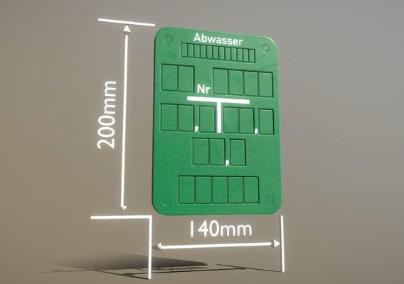 Hinweisschild Abwasser 200x140mm