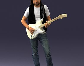 3D model Man with guitar 0120