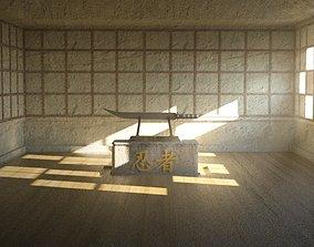 3D asset game-ready ninja Sword