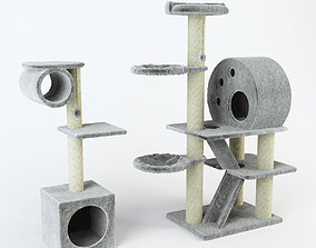 3D Cat Tree set decor