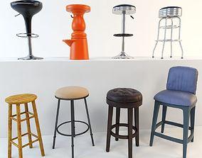 3D Bar stool set 8 items