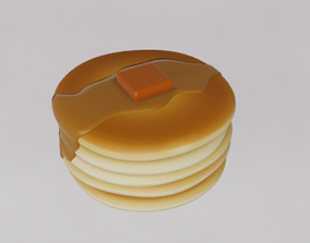 Cartoon pancake 3D