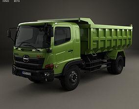 3D Hino 500 FG Tipper Truck 2016