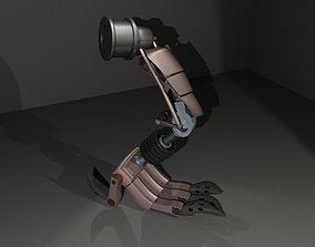 3D Cyborg leg part
