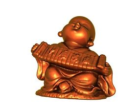 Buddhist monk sculpture 3D print model
