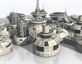 Modular Moon And Mars Base 3D asset realtime