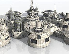 Modular Moon And Mars Base 3D asset realtime