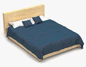 Wooden Bed Set 3D model