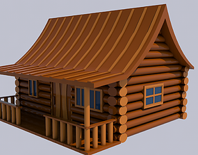 Wooden House roof 3D model