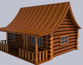 Wooden House 3D village
