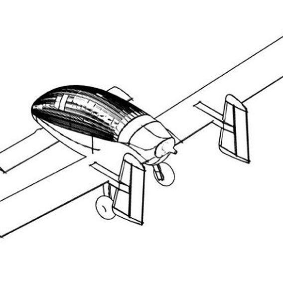 Canard Aircraft 3D model
