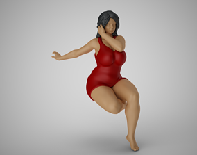 3D printable model Woman Reclining to Back thinking