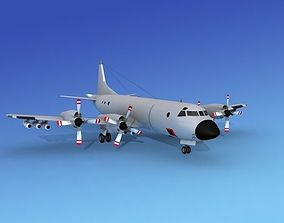 3D Lockheed P-3 Orion Unmarked 4 Hp