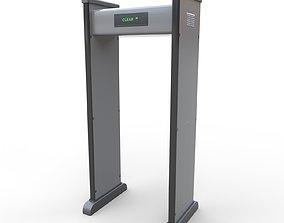 Security Metal Detector - PBR 3D model VR / AR ready