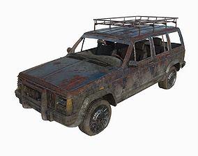 3D model Abandoned jeep 04
