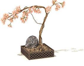 3D model Pink Flowered Plant