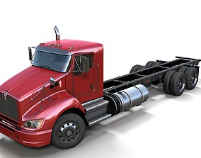 3D model Kenworth t440 Cab Chassis truck