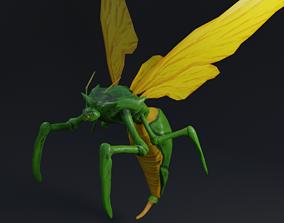 3D asset realtime Flying Beetle