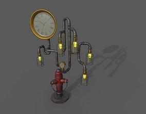 Fire Hydrent clock 3D model