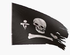 3D model Pirate Flag - Stede Bonnet