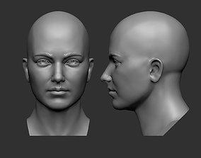 3D model Female head base mesh female