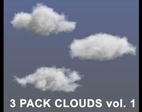 3D model Clouds - 3 PACK - vol1