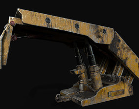 roof support mining system 3D asset