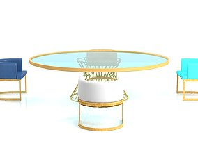 3D asset Requien Chairs and Rounded Table serie California