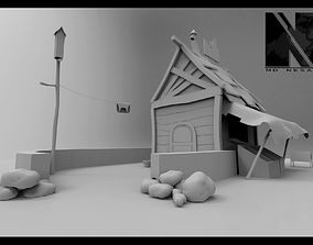 Small House 3D model low-poly