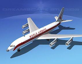 3D Boeing 707 World Airways