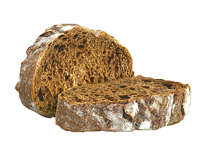 Photorealistic 3D Scanned Sliced Bread game-ready