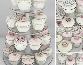 3D Wedding cupcake stand