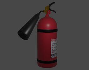 Fire extinguisher 3D model industrial