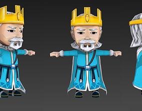 Character King Asia 3D asset