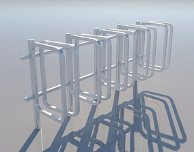 3D model Bicycle Rack - Low Poly