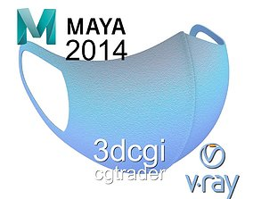 3D model VR / AR ready Medical face mask